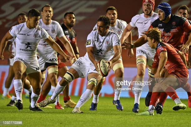 Louis-Benoit MADAULE of Toulouse during the Top 14 match between Toulon and Toulouse at Felix Mayol Stadium on May 8, 2021 in Toulon, France.