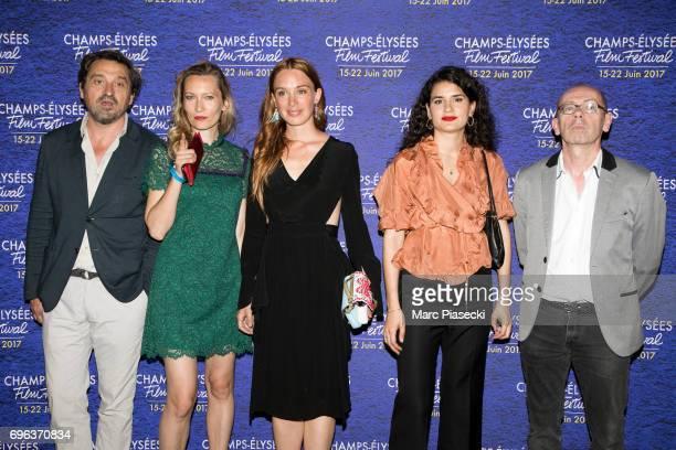 LouisDo De Lencquesaing Dounia Sichov Laetitia Dosch MarieLouise Khondji and Christophe Taudiere attend the 6th 'ChampsElysees Film Festival' at...