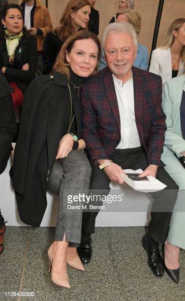 Louise Adams and Tony Adams attend the Victoria Beckham show during London Fashion Week February 2019 at Tate Britain on February 17 2019 in London...