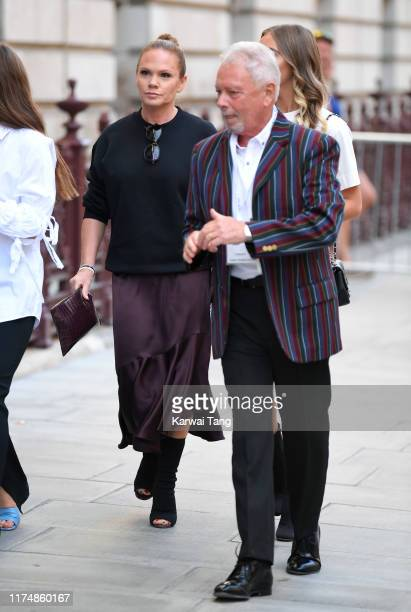 Louise Adams and Tony Adams attends the Victoria Beckham show during London Fashion Week September 2019 at the Foreign Office on September 15 2019 in...