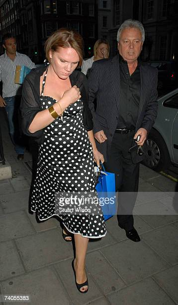 Louise Adams arrives at Cipriani restaurant to celebrate David Beckham's birthday with him, and her sister Victoria Beckham, on May 02, 2007 in...