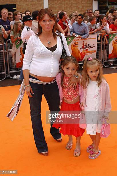 Louise Adams arrives at the UK charity film premiere of Garfield The Movie at Vue Leicester Square on July 25 2004 in London