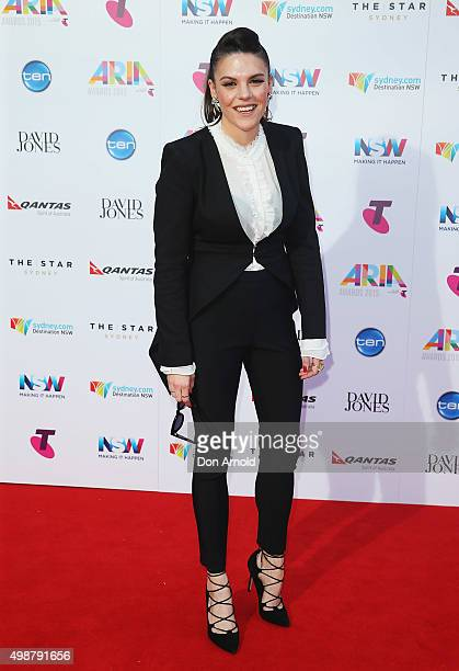 Louise Adams arrives for the 29th Annual ARIA Awards 2015 at The Star on November 26 2015 in Sydney Australia