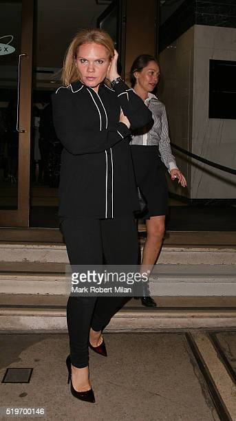 Louise Adams attending James Ingham's JogOn to Cancer Part 4 Party on April 7 2016 in London England
