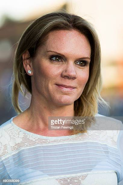Louise Adams attends a photocall to launch the David Beckham for HM Swimwear collection on May 14 2014 in London England