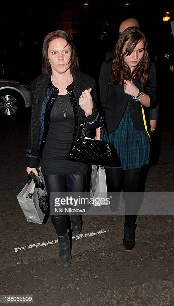 Louise Adams Beckham sighting on February 1 2012 in London England