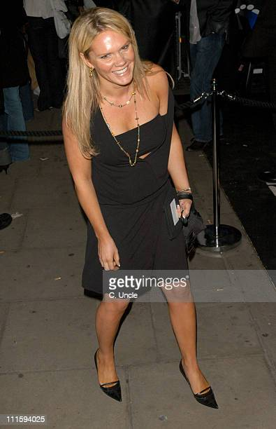 Louise Adams during Gizmondo Launch Party Arrivals at Sheraton Park Lane Hotel in London Great Britain