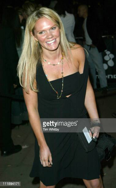 Louise Adams during Gizmondo MultiMedia Handheld Launch Party Arrivals at Park Lane Hotel in London United Kingdom