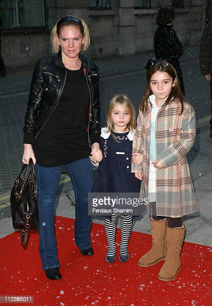 Louise Adams during The Snowman VIP Press Night Outside Arrivals at The Peacock Theatre in London Great Britain