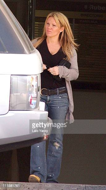 Louise Adams during Victoria Beckham's Family Arrive at the Ruber International Medical Centre February 21 2005 at Ruber International Medical Center...