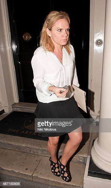 Louise Adams is seen leaving the Arts Club Mayfair on April 27 2014 in London England