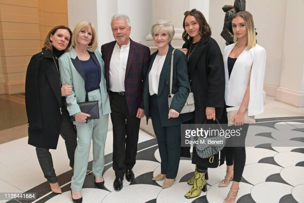 Louise Adams Jackie Adams Tony Adams Sandra Georgina West Liberty Adams and Tallulah Adams attend the Victoria Beckham show during London Fashion...