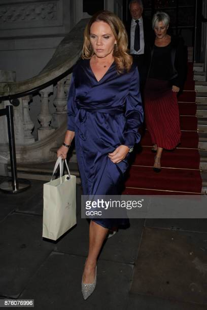 Louise Adams leaving the Global Gift Gala event on November 18 2017 in London England