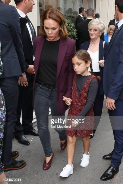 Louise Adams seen attending the Victoria Beckham show at Galerie Thaddaeus Ropac during London Fashion Week September 2018 on September 16 2018 in...