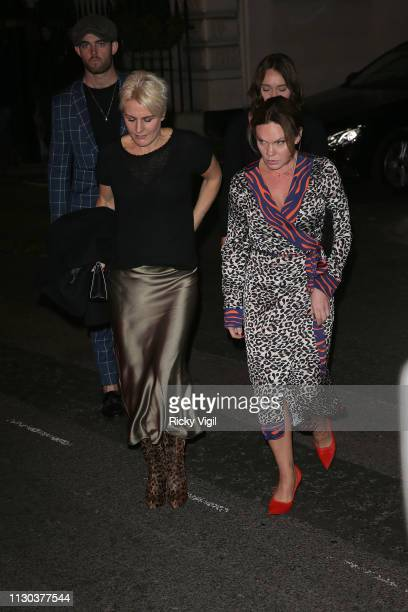 Louise Adams seen attending Victoria Beckham x YouTube - party at Mark's Club during LFW February 2019 on February 17, 2019 in London, England.