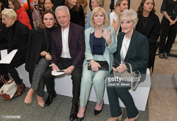 Louise Adams Tony Adams Jackie Adams and Sandra Georgina West attend the Victoria Beckham show during London Fashion Week February 2019 at Tate...