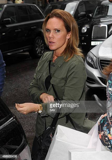 Louise Adams visits her sisters shop on September 18 2015 in London England