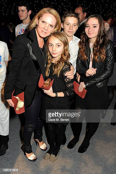 Louise Adams with daughters Liberty and Tallulah and Brooklyn Beckham attend an after party celebrating the Gala Press Night performance of 'Viva...