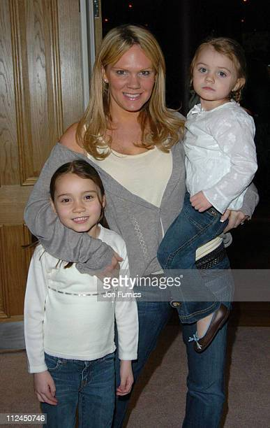 Louise adams with daughters Liberty and Tallulah during Laura's Star London Premiere at Soho Hotel in London Great Britain