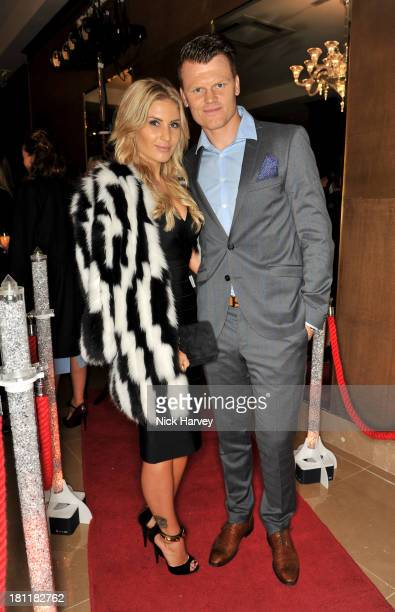 Louise Angelica and John Arne Riise attend the Nina Naustdal Runway show following London Fashion Fashion Week SS14 at The Mayfair Hotel on September...