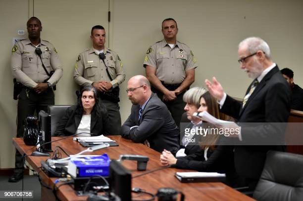Louise Anna Turpin David Allen Turpin accused of holding 13 children captive appear in court for arraignment with attorneys Jeff Moore Alison Lowe...