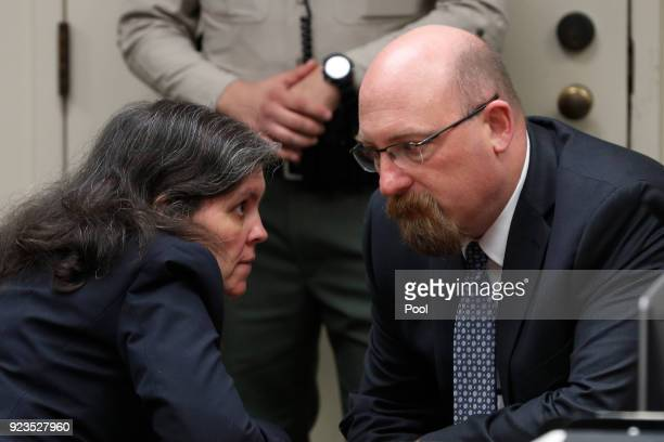 Louise Anna Turpin who along with David Allen Turpin is accused of abusing and holding 13 of their children captive talks to her attorney Jeff Moore...