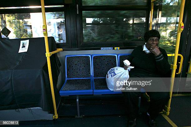 Louise Bean rides a Montgomery Area Transit System bus October 28 2005 in Montgomery Alabama Rosa Parks who died October 24 2005 at the age of 92...