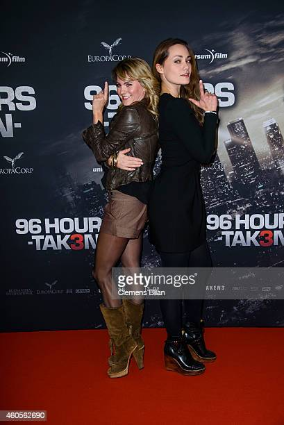 Louise Behr and Sarah Maria Besgen attend the premiere of the film '96 Hours - Taken 3' at Zoo Palast on December 16, 2014 in Berlin, Germany.