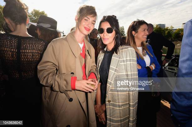 Louise Bourgoin and Leila Behkti attend Le Defile L'Oreal Paris as part of Paris Fashion Week Womenswear Spring/Summer 2019 on September 30 2018 in...