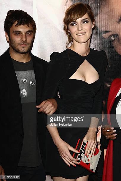 Louise Bourgoin and Pio Marmai attend 'Un Heureux Evenement' Paris premiere at UGC Cine Cite Bercy on September 26, 2011 in Paris, France.