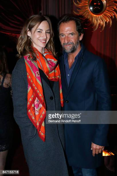 Louise Bourgoin and Stephane De Groodt attend the Reopening of the Hotel Barriere Le Fouquet's Paris decorated by Jacques Garcia at Hotel Barriere Le...