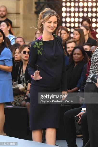 """Louise Bourgoin attends the """"Le Defile L'Oreal Paris"""" show as part of Paris Fashion Week At Monnaie de Paris on September 28, 2019 in Paris, France."""