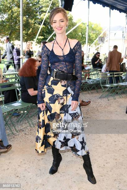 Louise Bourgoin attends the Nina Ricci show as part of the Paris Fashion Week Womenswear Spring/Summer 2018 on September 29 2017 in Paris France
