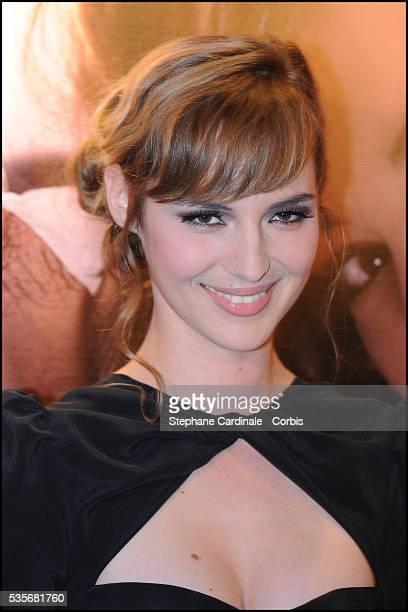 "Louise Bourgoin attends the premiere of ""Un Heureux Evenement"" in Paris."
