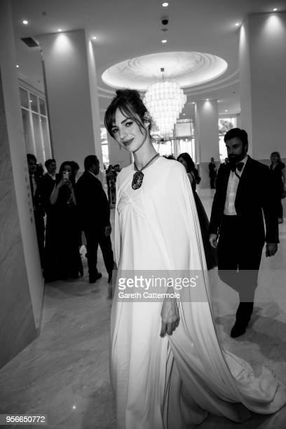 Louise Bourgoin departs the Martinez Hotel during the 71st annual Cannes Film Festival at on May 9 2018 in Cannes France