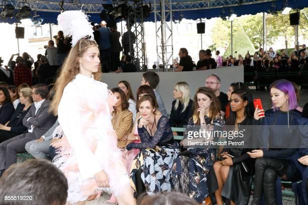 Louise Bourgoin, Fishback, Vashtie Kola and Irene Kim attend the Nina Ricci show as part of the Paris Fashion Week Womenswear Spring/Summer 2018 on...