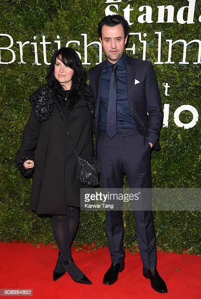 Louise Burton and Daniel Mays attend the London Evening Standard British Film Awards at Television Centre on February 7 2016 in London England