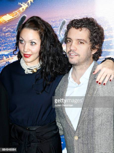 Louise Chabat and Bruno Sanches attend 'Santa Cie' Paris Premiere at Cinema Pathe Beaugrenelle on December 3 2017 in Paris France