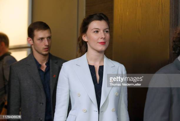 Louise Chevillotte arrives for the Synonymes photocall during the 69th Berlinale International Film Festival Berlin at Grand Hyatt Hotel on February...