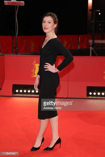 Louise Chevillotte attends the 'Synonymes' premiere during the 69th Berlinale International Film Festival Berlin at Berlinale Palace on February 13...