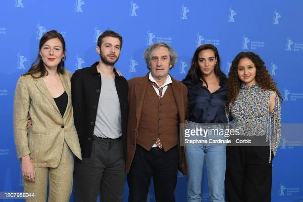 Louise Chevillotte Logann Antuofermo director Philippe Garrel Souheila Yacoub and Oulaya Amamra attend the The Salt Of Tears photo call during the...