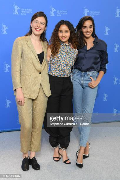 Louise Chevillotte Oulaya Amamra and Souheila Yacoub attend the The Salt Of Tears photo call during the 70th Berlinale International Film Festival...