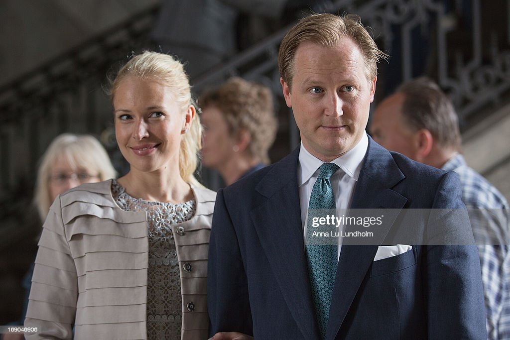 Louise Cronstedt and Jacob Cronstedt visit the wedding preparations for H.K.H. Princess Madeleine and Mr. Christopher O'Niell on May 19, 2013 in Stockholm, Sweden.