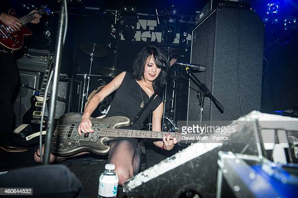 Louise Decoufle from Loading Data opens for Royal Blood at Point Ephemere at on December 18 2014 in Paris France