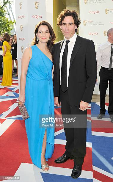 Louise Delamere and Stephen Mangan arrive at the Arqiva British Academy Television Awards 2012 at Royal Festival Hall on May 27 2012 in London England