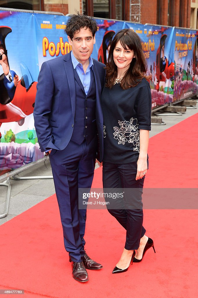 Louise Delamere and Stephen Mangan attend the UK premiere of 'Postman Pat' at the Odeon West End on May 11, 2014 in London, England.