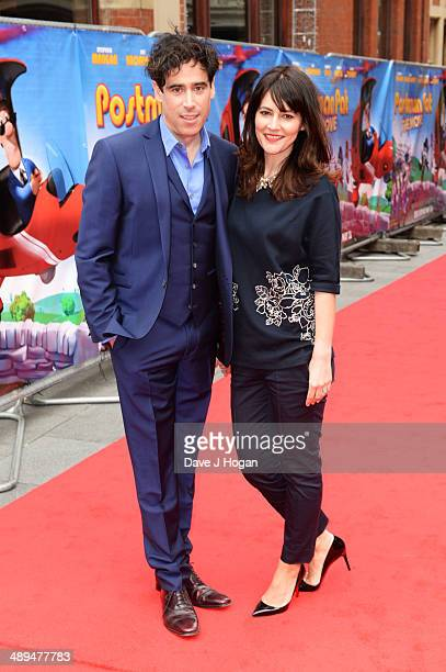 Louise Delamere and Stephen Mangan attend the UK premiere of 'Postman Pat' at the Odeon West End on May 11 2014 in London England