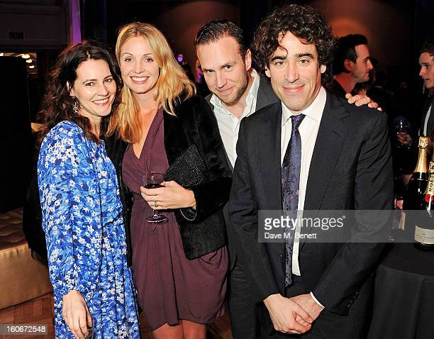 Louise Delamere Elize du Toit Rafe Spall and Stephen Mangan attend the London Evening Standard British Film Awards supported by Moet Chandon and...