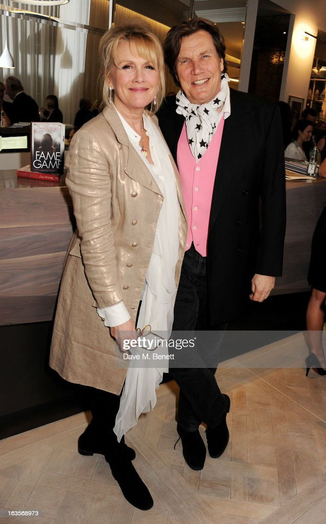 Louise Fennell (L) and Theo Fennell attend the launch of Louise Fennell's new book 'Fame Game' at Grace Belgravia on March 12, 2013 in London, England.