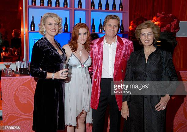 Louise Fennell Emerald Fennell Theo Fennell and Madame Dominique Hériard Dubreuil president of RémyCointreau Group